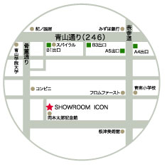 showroom ICON access map
